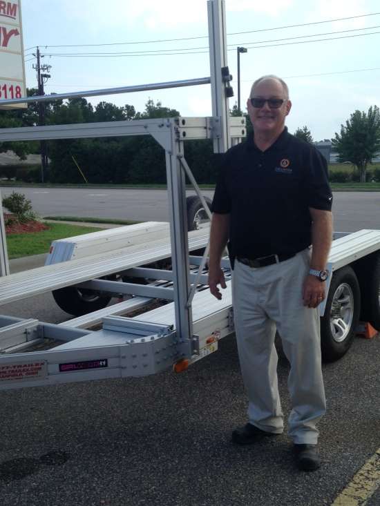 The trailer hand-off from Mark S, who kindly trailered it down from Richmond, VA.