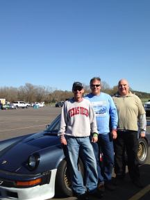 Track Monkeys united! Tex and The Major flanking my instructor.
