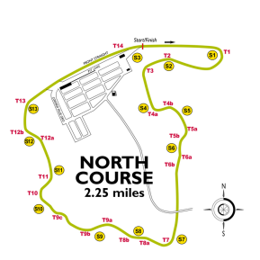 VIR North Course track map.