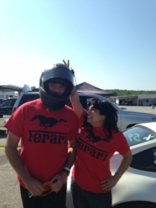 Team Ferari. I tried again but the bunny ears trick only worked once.