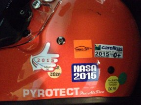 More stickers that I could have anticipated. My orange helmet protects the software.